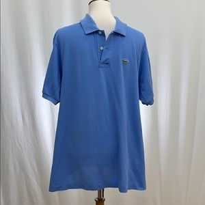 Lacoste Pique Blue Polo Shirt Size 7 (XL)